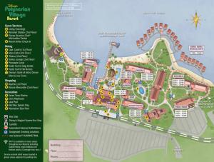 Detailed map of Disney's Polynesian Resort