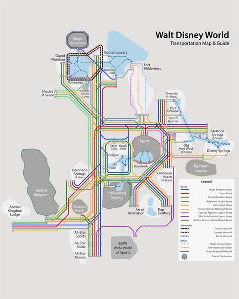 Disney World Map Of Transportation