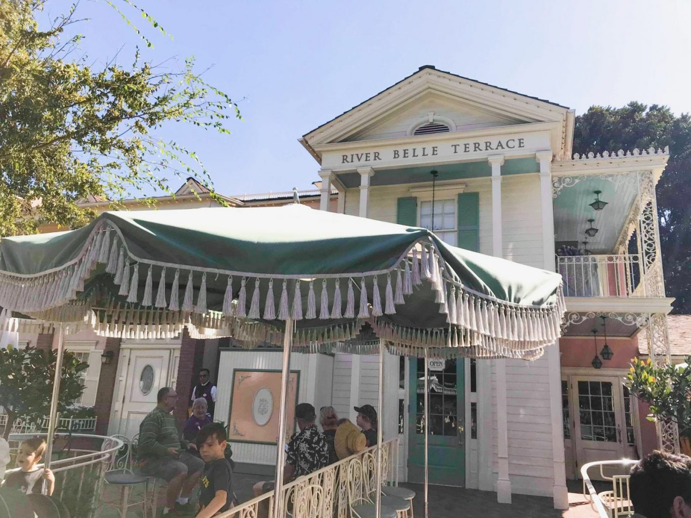 The quaint Disneyland restaurant, River Belle Terrace