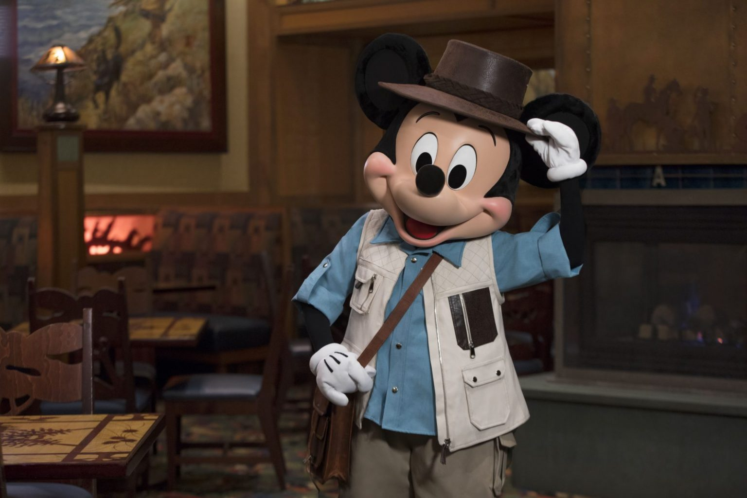 Adventurer Mickey at the Storytellers Cafe