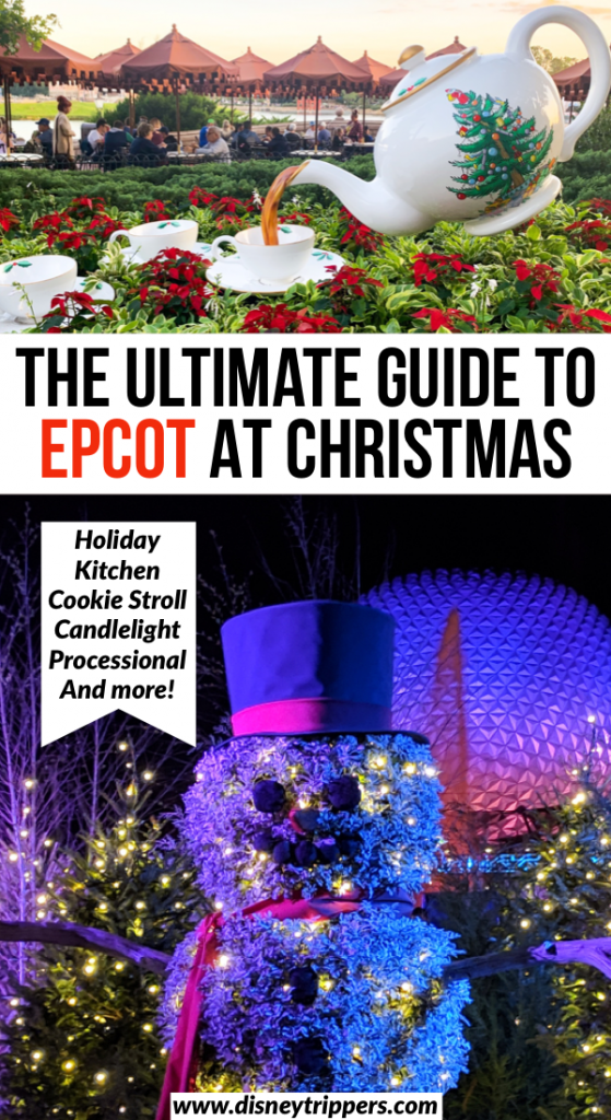 The Ultimate Guide To Epcot At Christmas | The Ultimate Guide To 2019 Epcot Festival Of The Holidays | Holiday Kitchen Menus at Epcot | Cookie Stroll at Epcot | Candlelight Processional at Epcot | Tips for Epcot Christmas Trip | tips for going to Disney at Christmas | Disney Christmas travel tips #disney