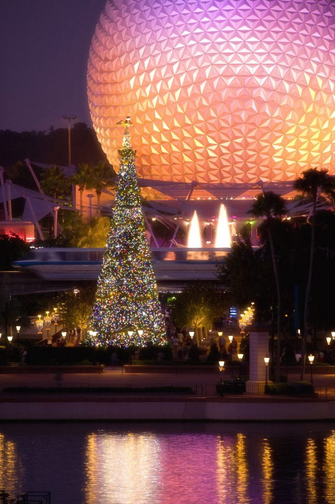 Christmas Tree at Epcot Festival Of The Holidays