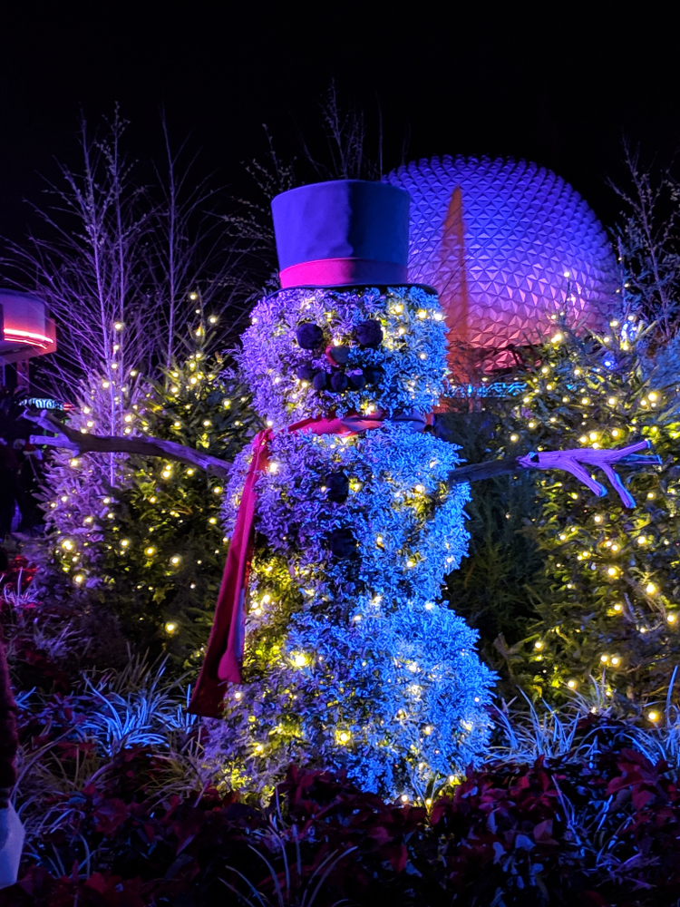 Snowman at the Epcot Festival Of The Holidays