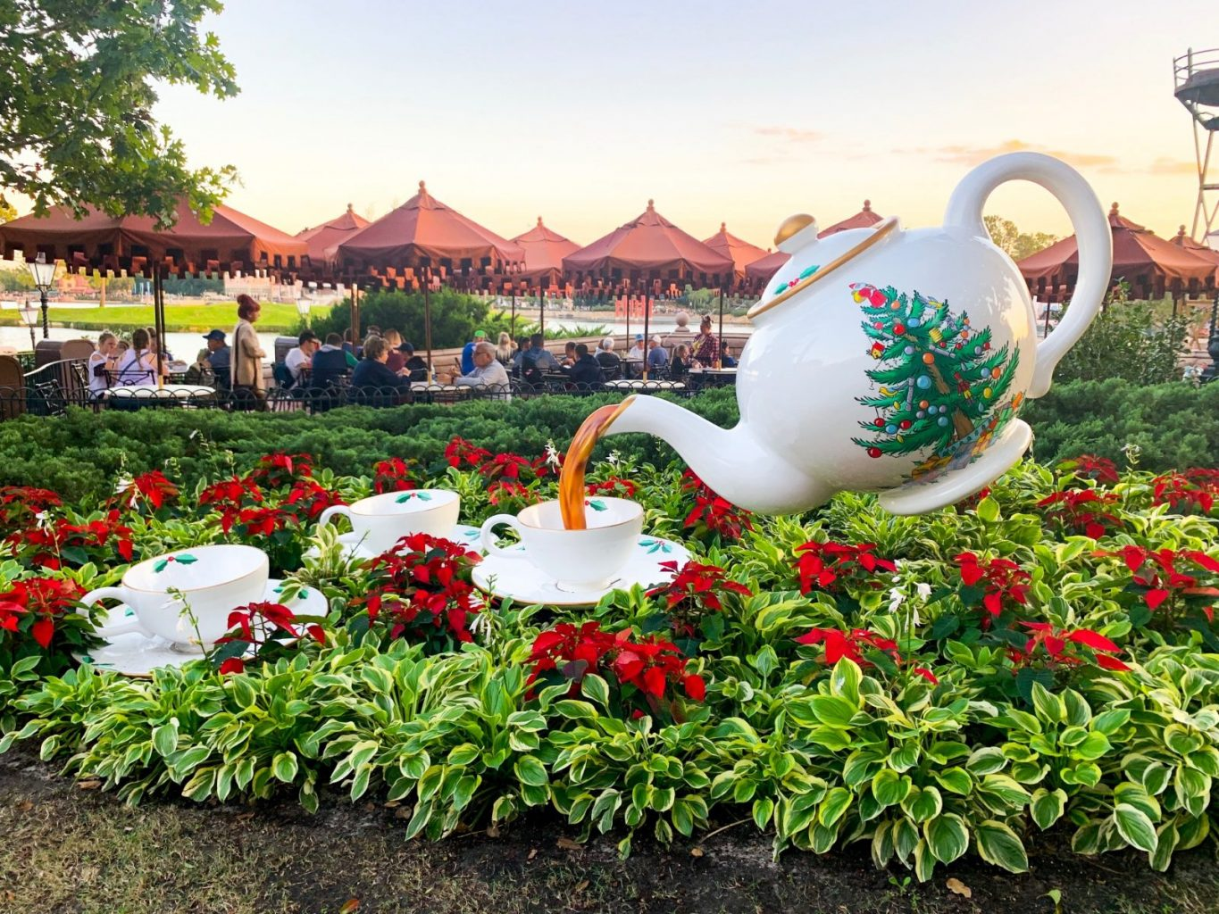 Teapot for the Christmas Epcot celebration