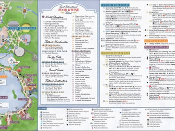 The Official Epcot Map from Disney Website
