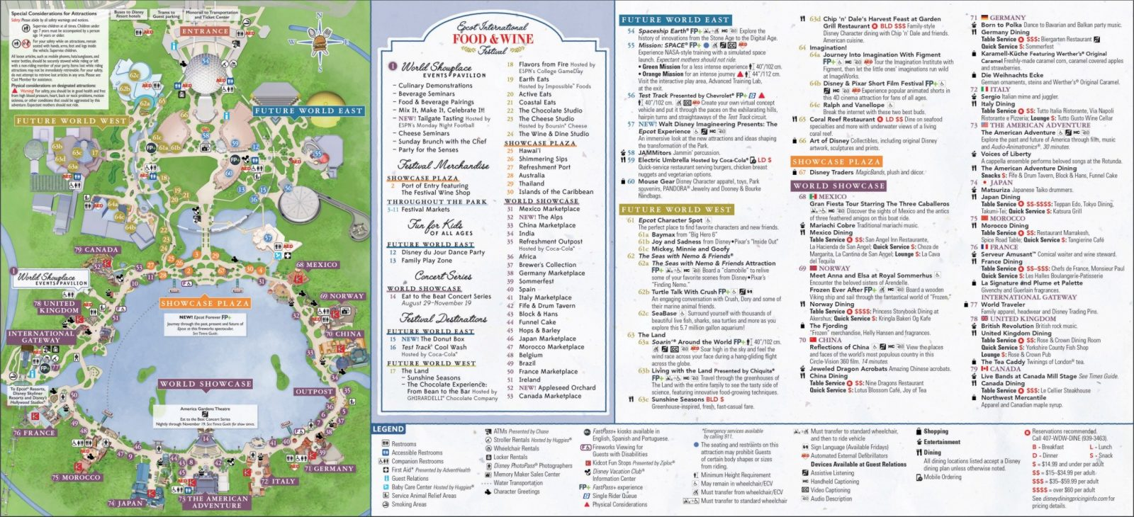 The Official Epcot Map + Tips For Your Visit - Disney Trippers
