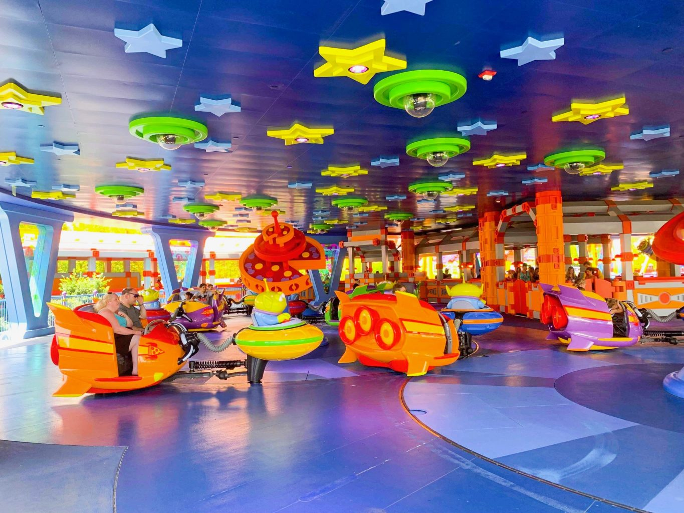 Hollywood Studios Fastpass Interior of Alien Saucers in Toy Story Land