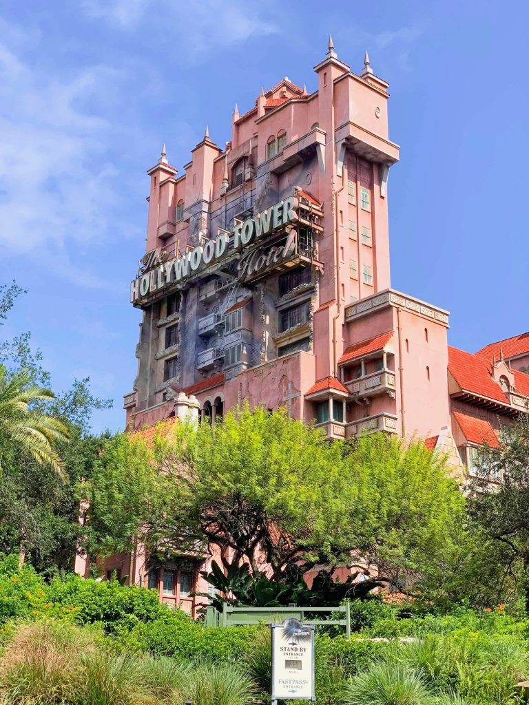 Hollywood Studios Fastpass Hollywood Tower Hotel Exterior