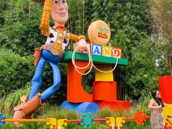 Hollywood Studios Fastpass Entrance to Toy Story Land featuring Woody