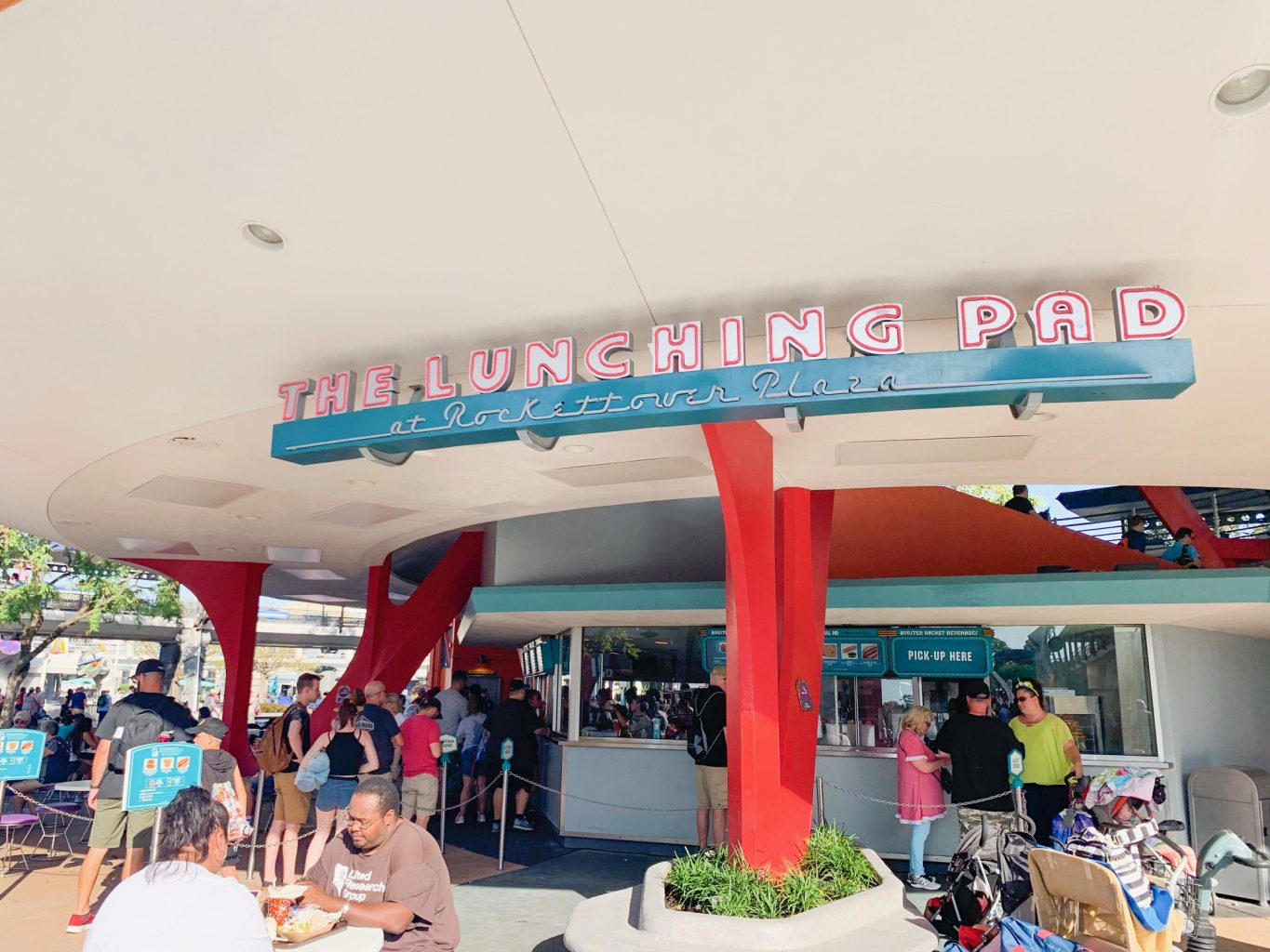 The outside of the Lunching Pad, one of the restaurants to avoid if you want the best quick service in Magic Kingdom