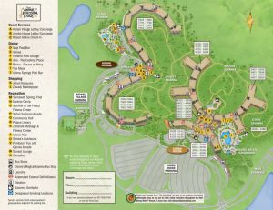 Detailed map of disney's animal kingdom resort hotel