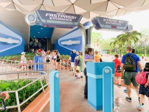 spaceship earth queue and entrance