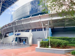side view of test track entrance