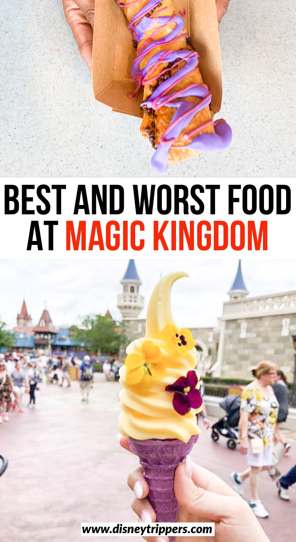 Best And Worst Food At Magic Kingdom | where to eat at Magic Kingdom | best magic kingdom snacks | best magic kingdom dining | best food to eat at Disney World | where to eat at Disney world | Disney travel tips | best things to eat at Disney world #disney #magickingdom