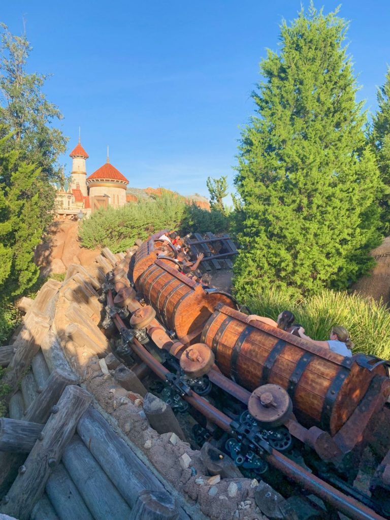 7 dwarves mine train is one of the best rides at Disney World