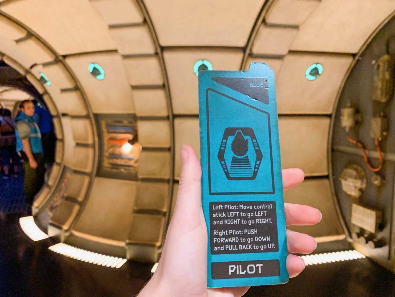 Pilot Card For Smugglers Run Disney ride