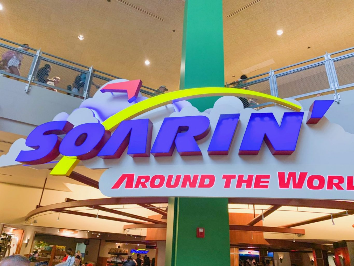 Sign for Soarin one of the best Disney World rides