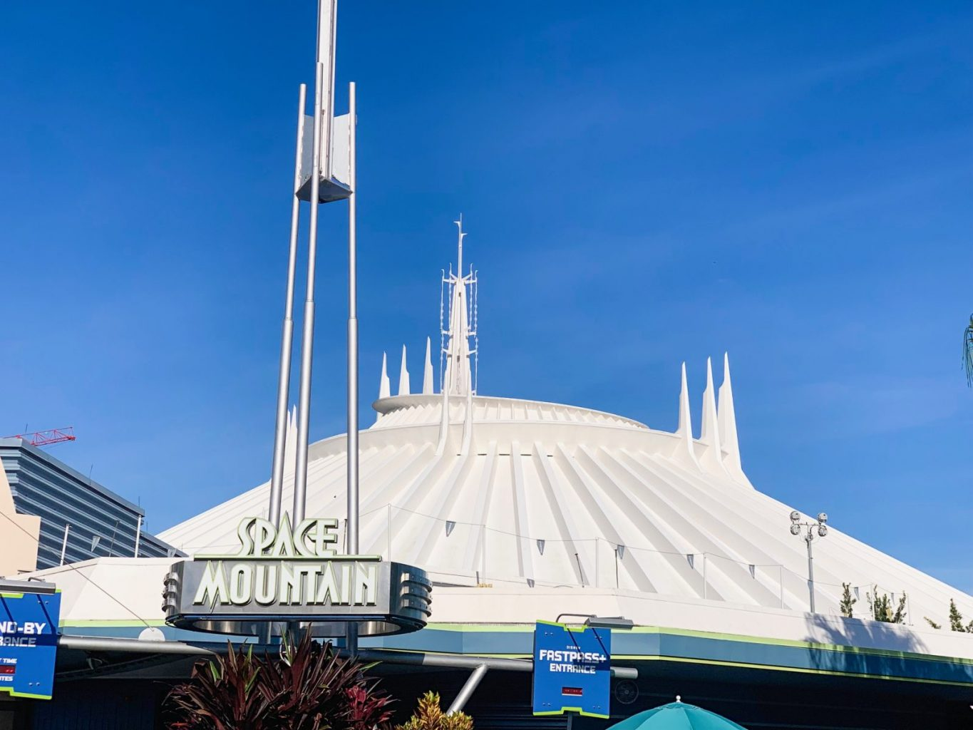 outside of Space Mountain ride at Magic Kingdom