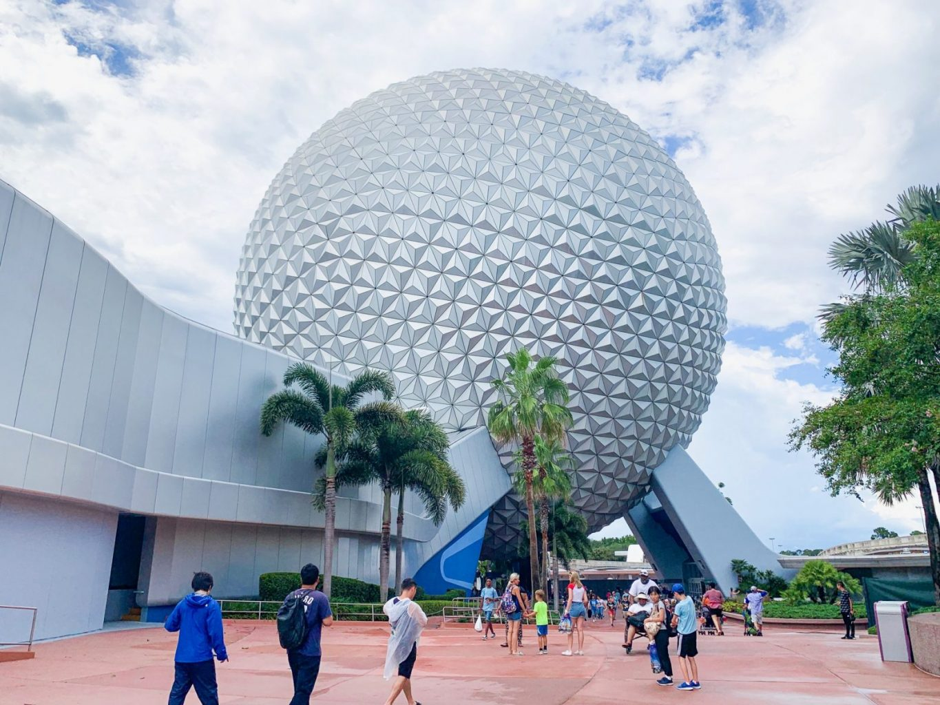 Outside of Spaceship Earth ride at Disney's Epcot park