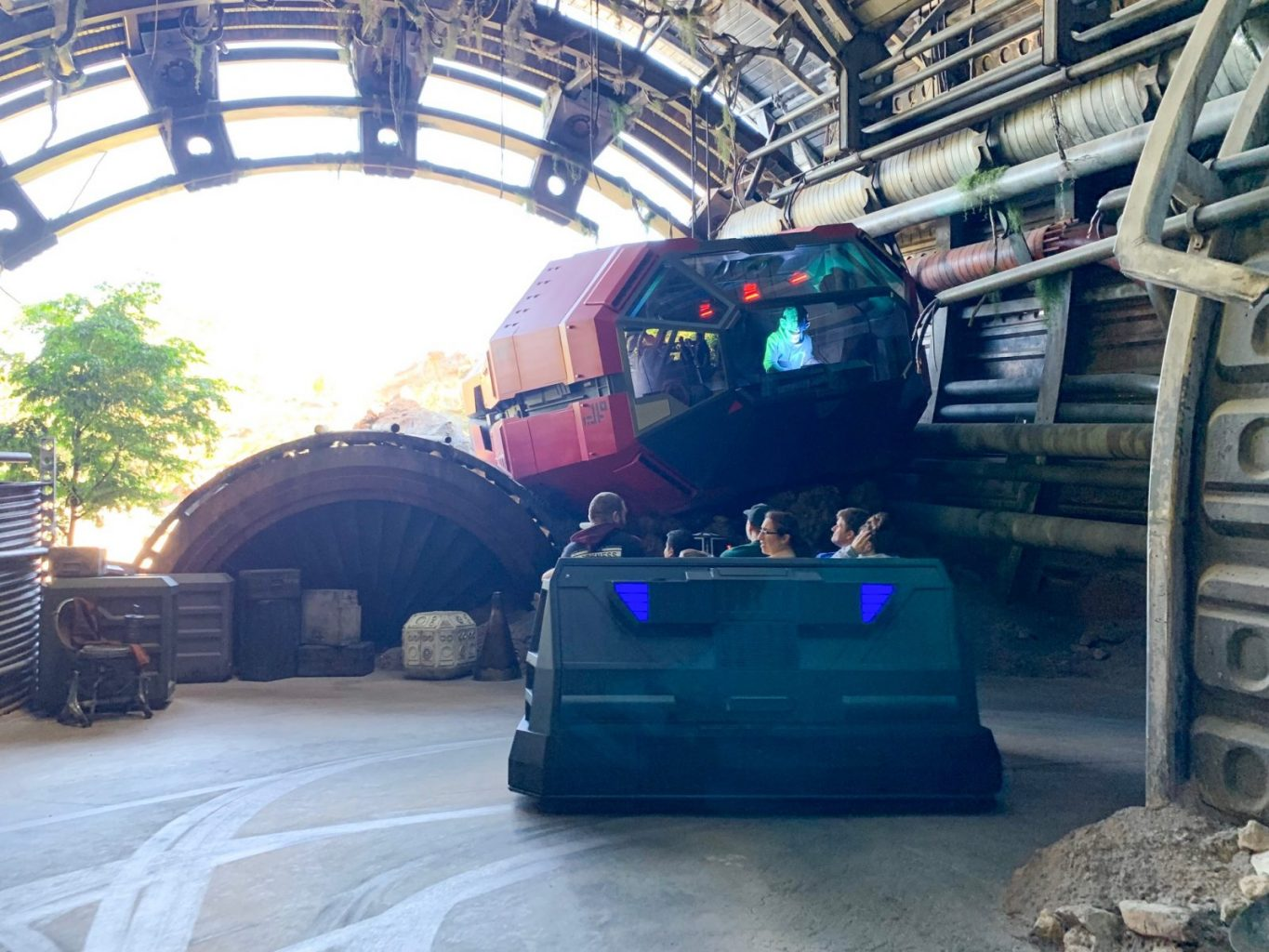 Finale of Rise Of The Resistance ride at Hollywood Studios