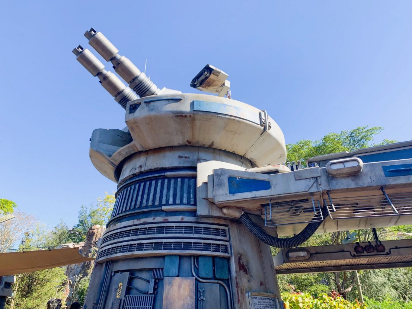 Entrance blaster to Rise Of The Resistance at Hollywood Studios