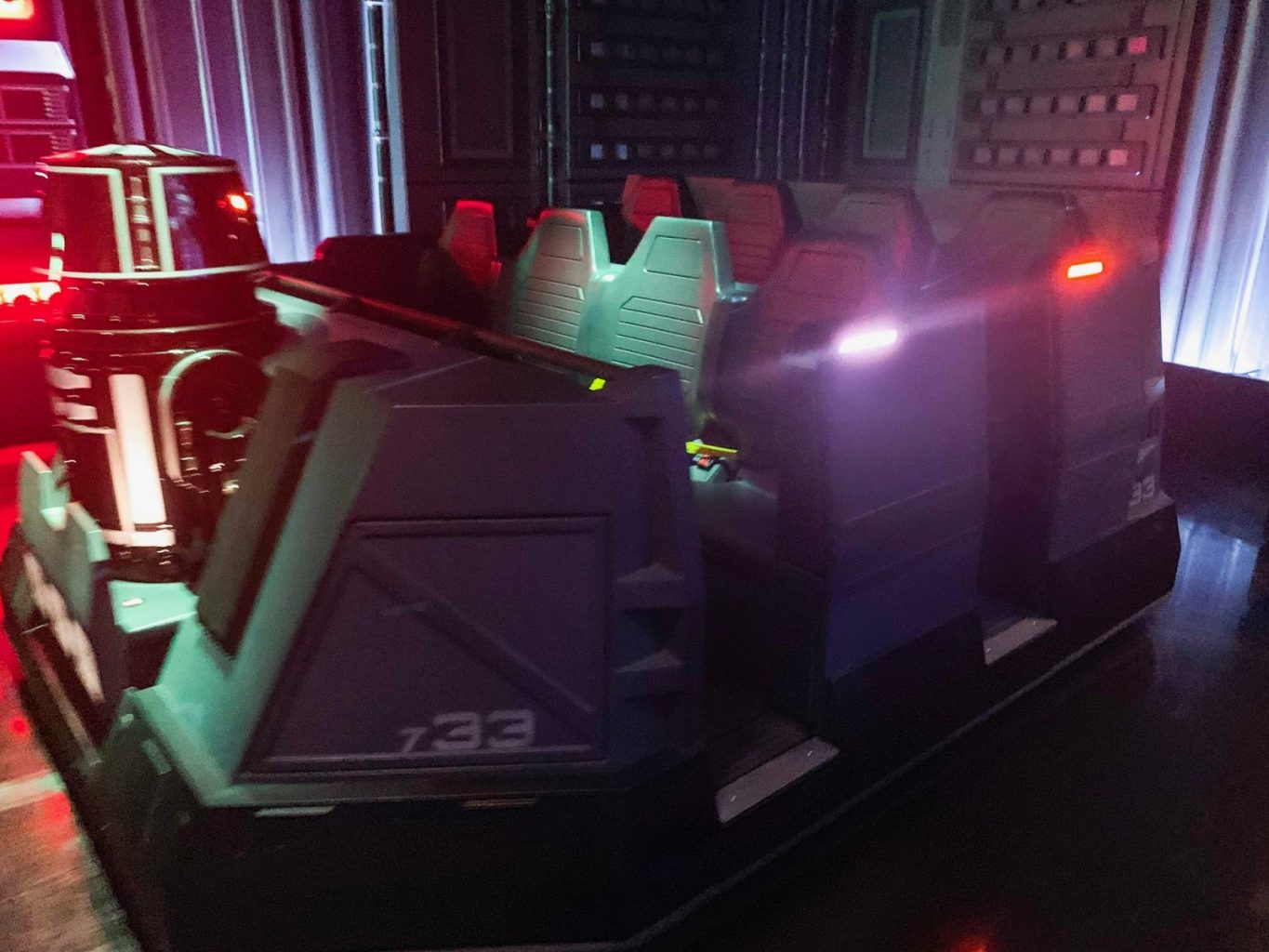 The Star Wars Rise Of The Resistance ride vehicle