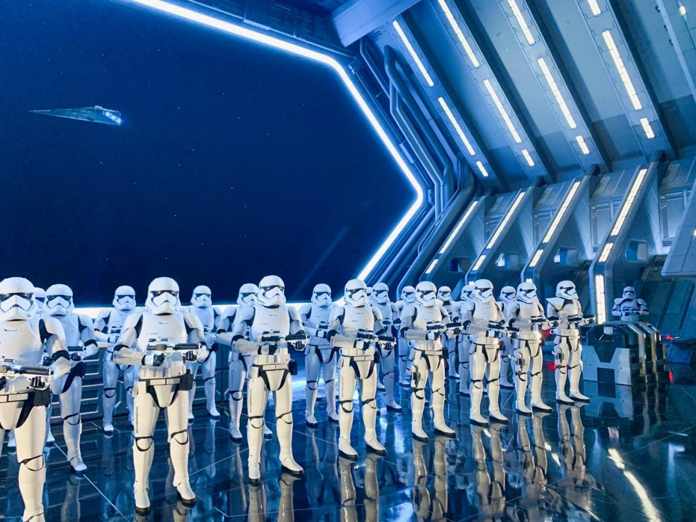 close-up view of Star Wars Storm Troopers In Galaxy's Edge