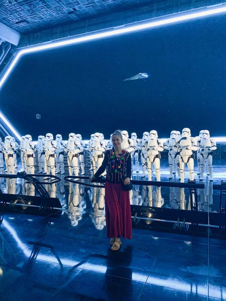 Photo in front of the Storm troopers on Rise Of The Resistance