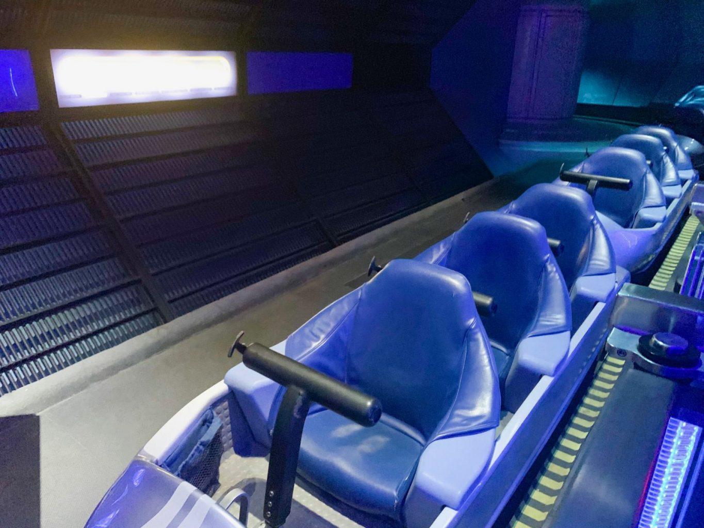 ride car inside Disney's Space Mountain