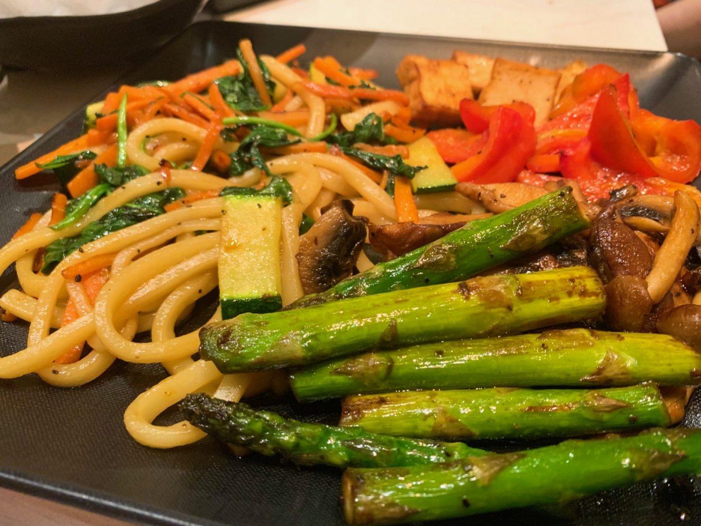 close-up of veggie entree at teppan edo epcot