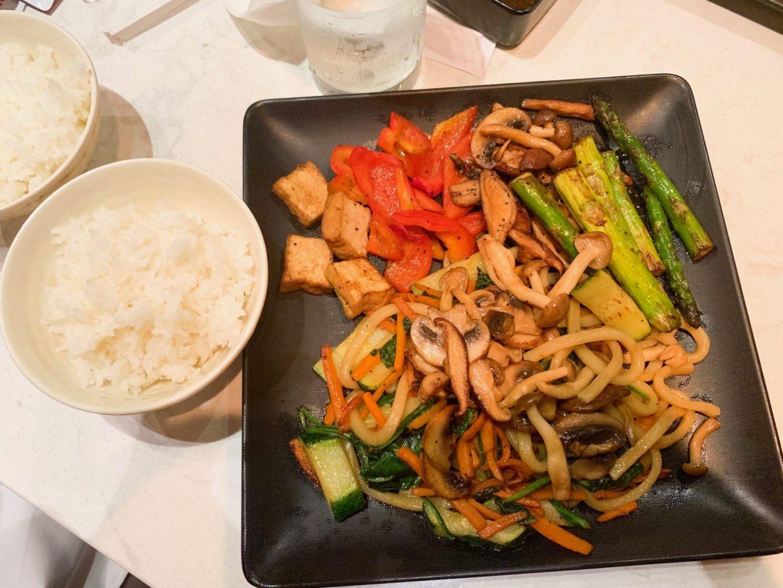 delicious vegan meal from teppan edo epcot