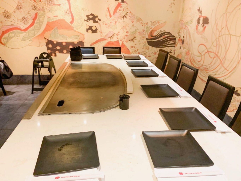 table at teppan edo epcot