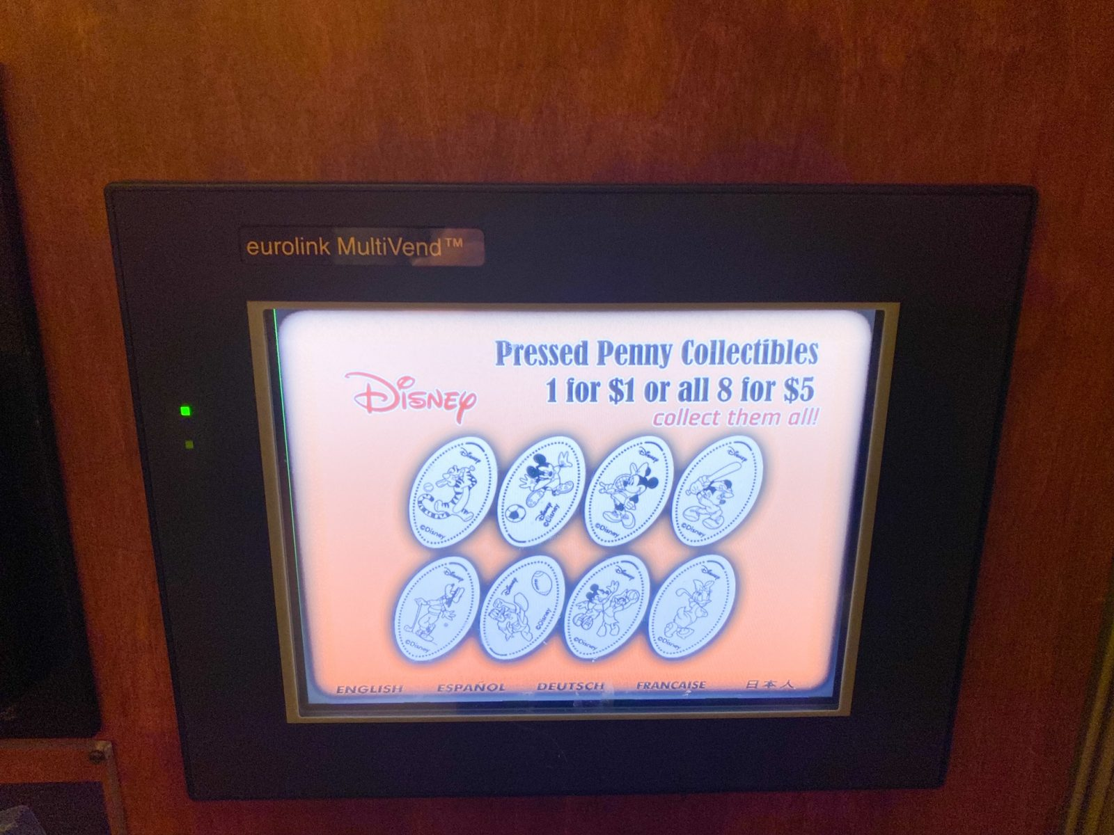 Disney Souvenirs Pressed Penny Machine Instructions and Cost