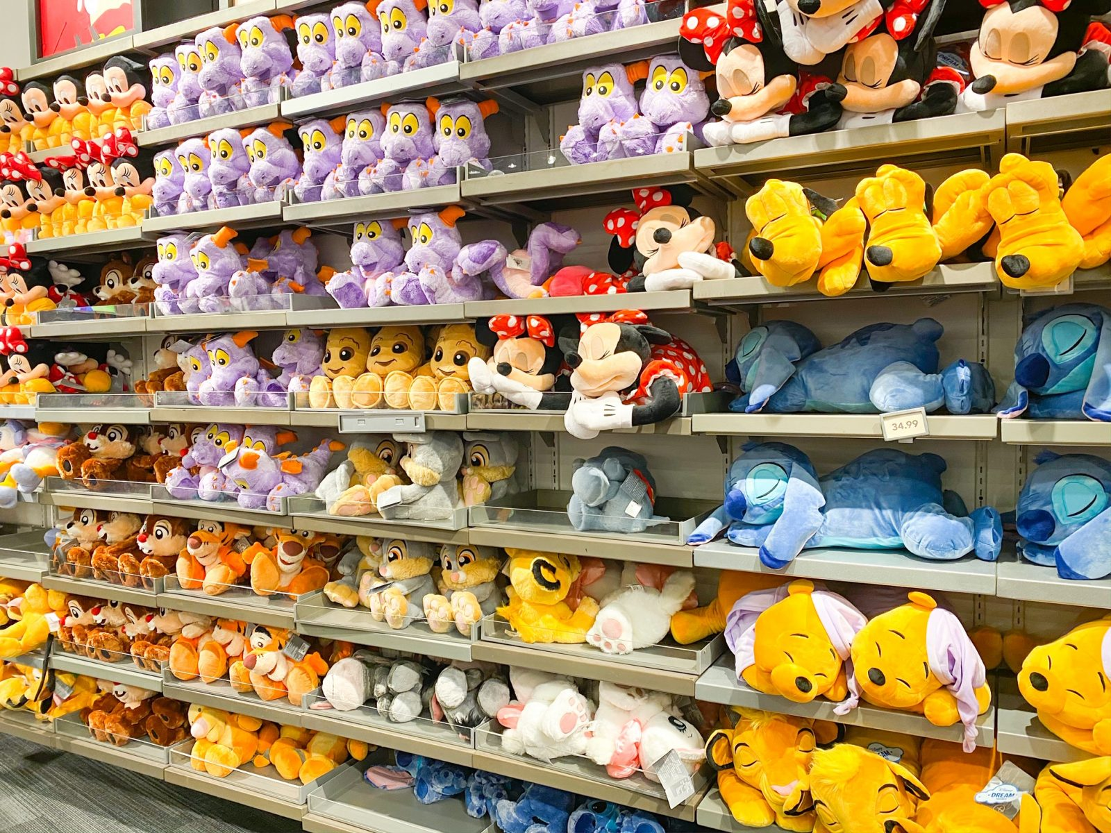 Disney Souvenirs Plush Toys on Wall