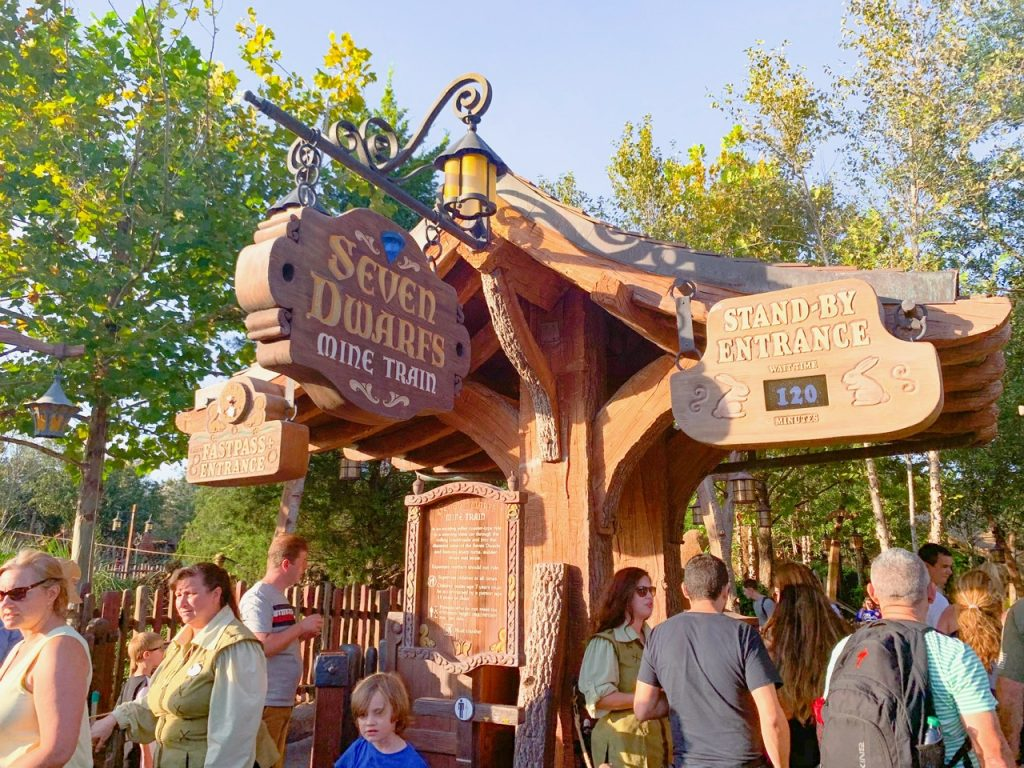 Photo of the Seven Dwarves Mine Train, one of the best Disney World FastPass selections!