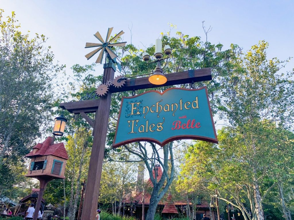 Photo of Enchanted Tales with Belle, one of the best Disney World FastPass selections!