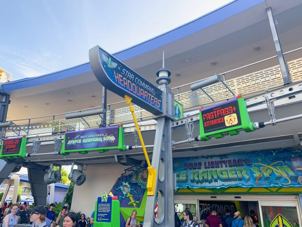 Photo of Buzz Lightyear, one of the best Disney World FastPass selections!