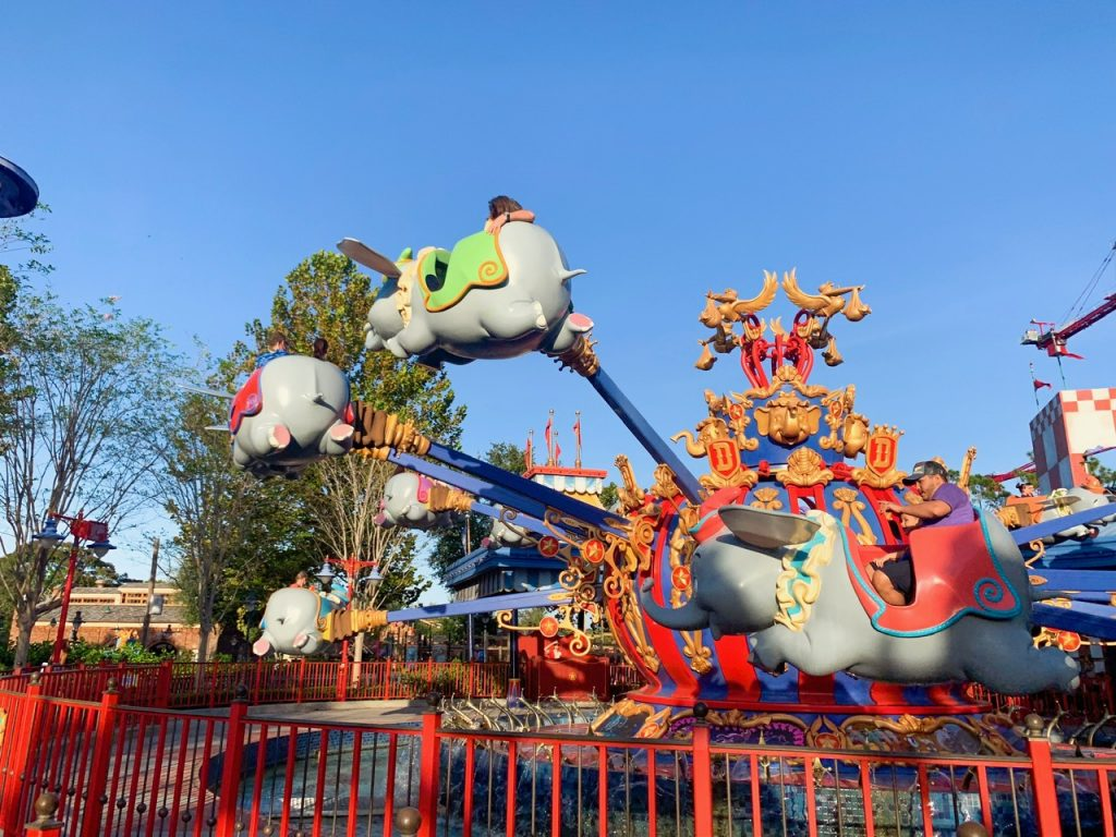 Photo of Dumbo, one of the worst options for your Disney World FastPass reservation.
