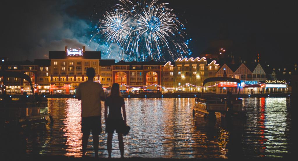 Disney on a Budget Boardwalk with Fireworks