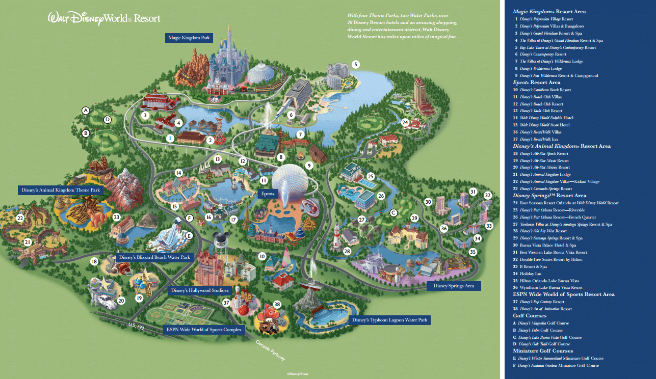 Disney on a Budget Resort Map
