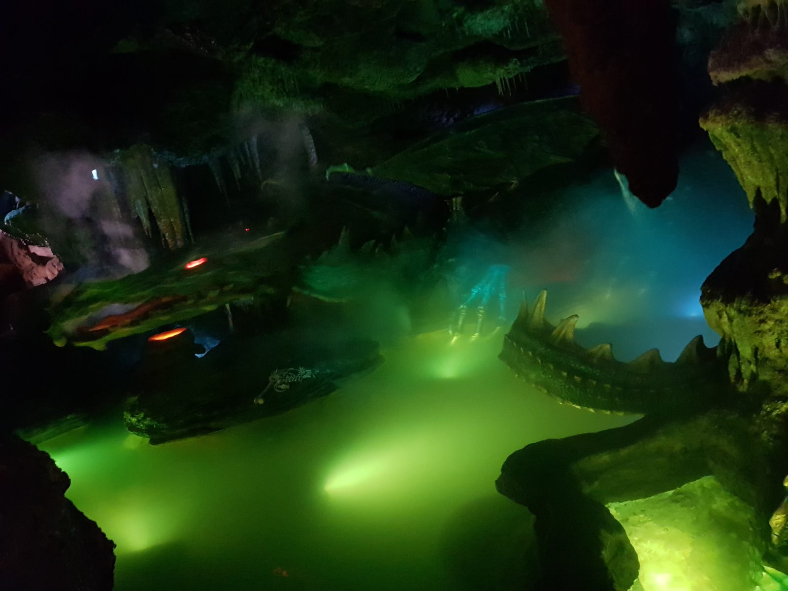 The dragon underneath the Sleeping Beauty castle at Disneyland Paris