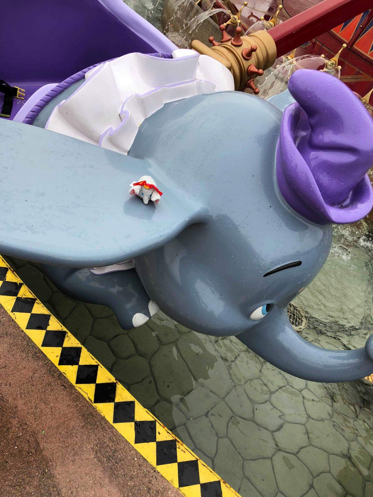 A dumbo cart, part of the Dumbo ride at Disneyland Paris