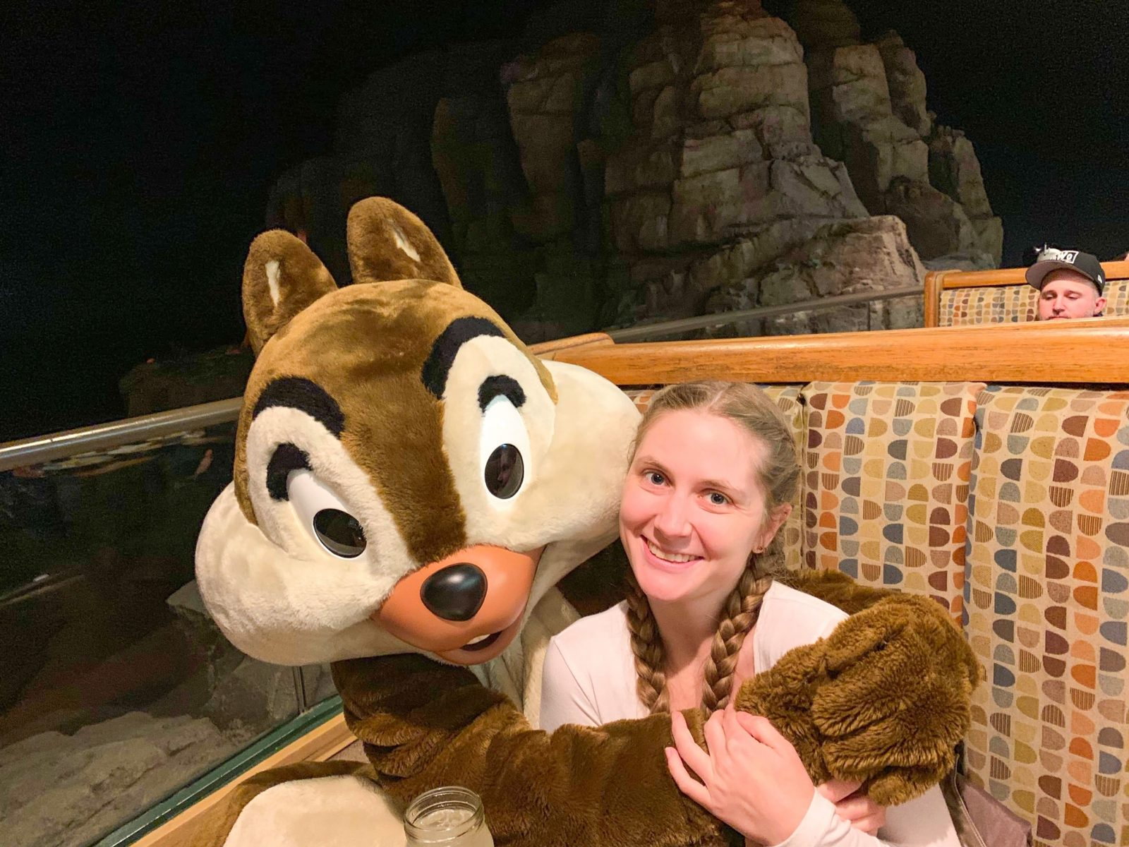 Victoria Yore with Chip at Disney Character Dining