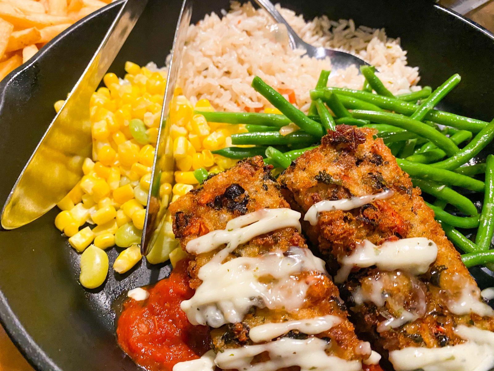 vegan menu option at Garden Grill