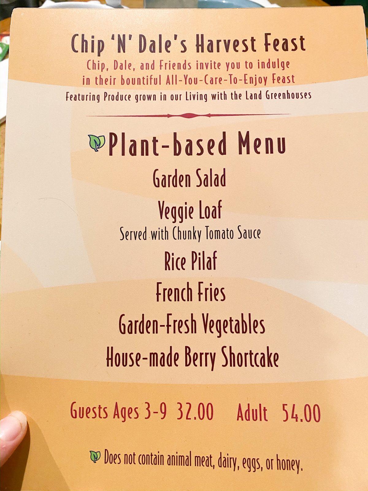 garden grill menu for vegans and vegetarians