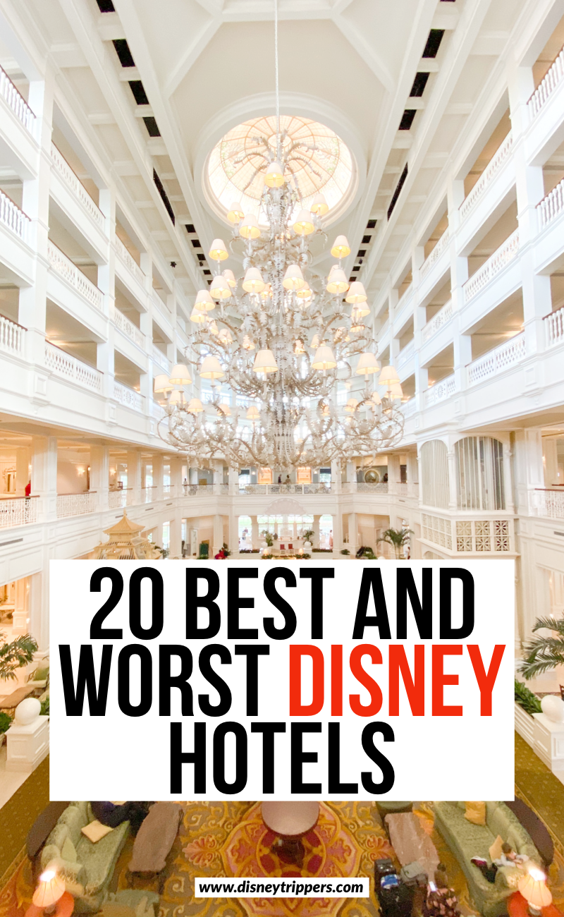 20 Best And Worst Disney World Hotels | Best and worst resorts at Disney World | where to stay at Disney World | best hotels at Disney World | where to stay at Disney | tips for planning a trip to Disney | how to save money on Disney World hotels | Disney travel tips | Disney planning tips #disney