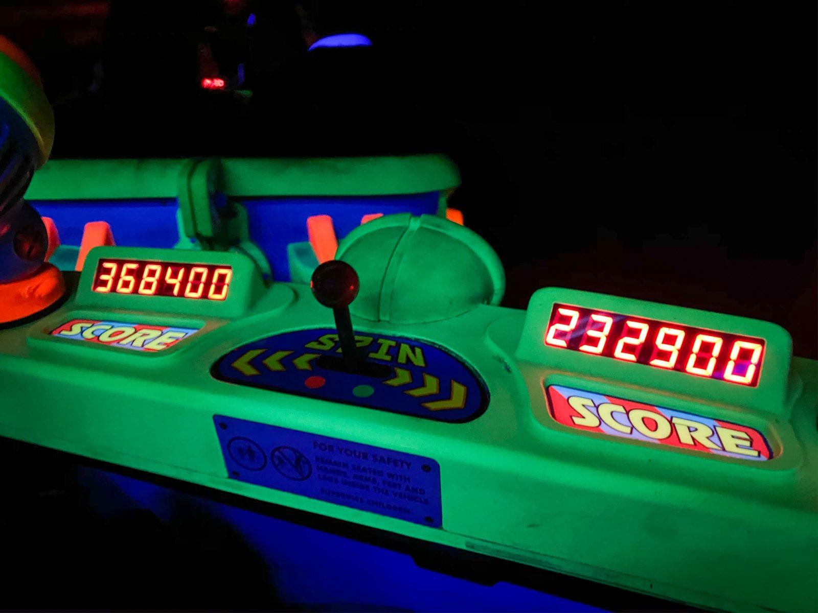 high score on Buzz Lightyear Space Ranger Spin