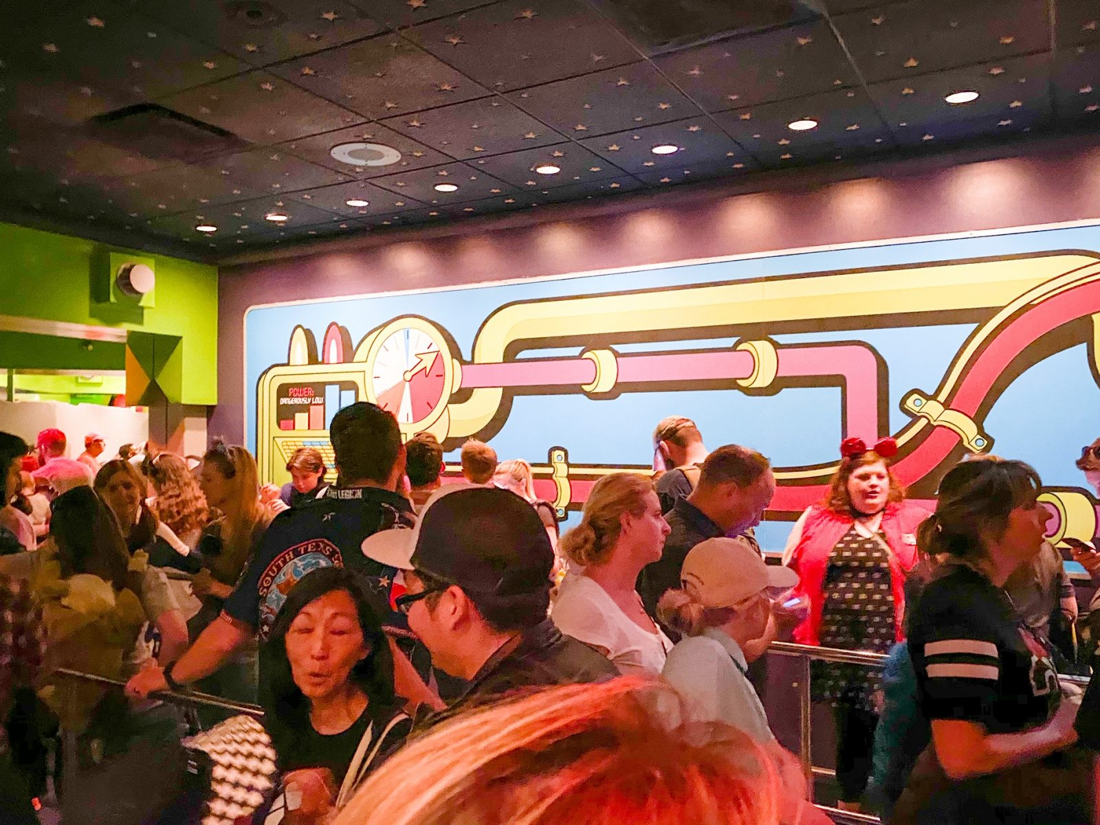 line for Buzz Lightyear Ride