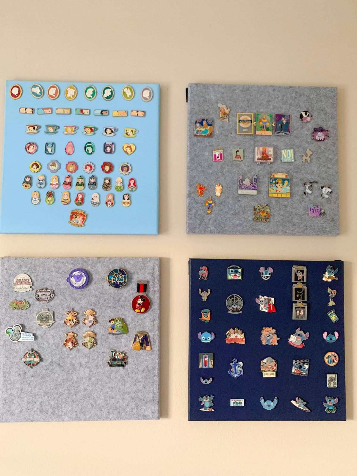 Disney pin cork board display