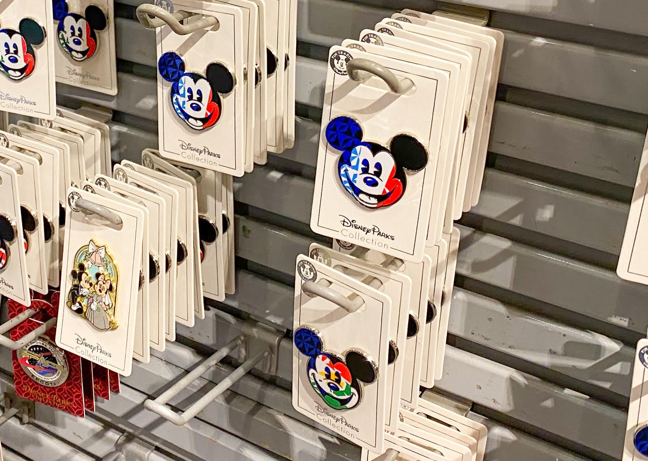 Open edition pins for sale at Disney